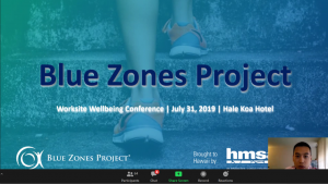 Slide of awardee Blue Zones Project