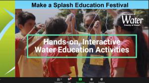 Slide of awardee Make a Splash Festival