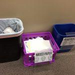Photo of trash receptacles