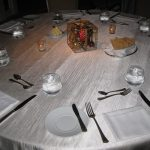 Photo of table setting of reusable tableware
