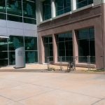 Photo of bicycle rack outside of building