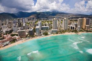 Aerial of Waikiki, Oahu