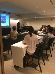 Photo of speaker at hotel forum