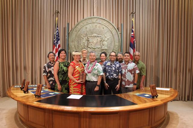 2019 Hawaii Green Business Program Awardee group photo