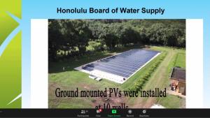 Slide of awardee Board of Water Supply