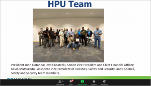 Slide of awardee Hawaii Pacific College