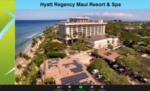 Slide showing Hyatt Regency Maui Resor and Spa, aerial view.