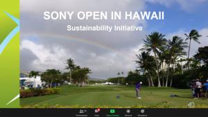 Slide of awardee Sony Open Hawaii