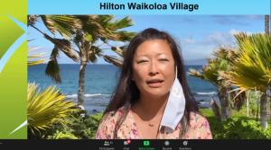 Slide of awardee Hilton Waikola Village